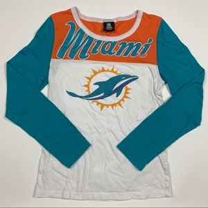 Vintage NFL Miami Dolphin Big Logo Long Sleeve